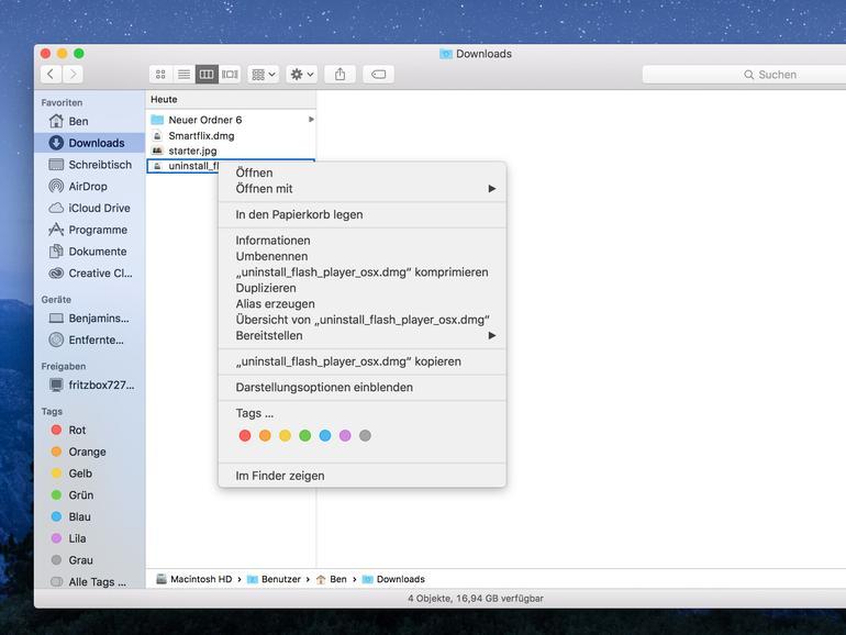 So kopiert man einen Datei - oder Ordnerpfad am Mac