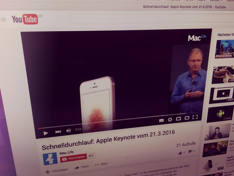 Das Wichtigste der iPhone-SE-Keynote in rund zwei Minuten