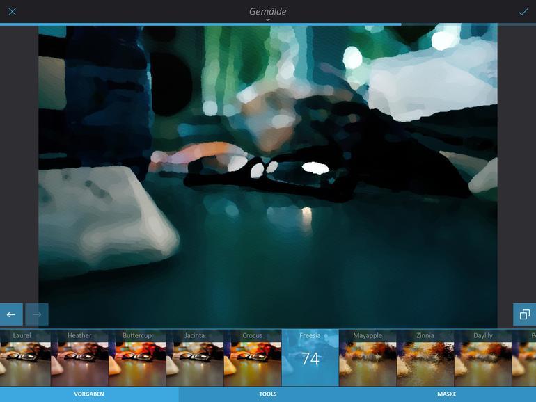 Die kleine und sehr praktische App Photo Investigator zeigt auch Metadaten wie die Auflösung von Bildern – auf Wunsch als Tool im Exportmenü.
