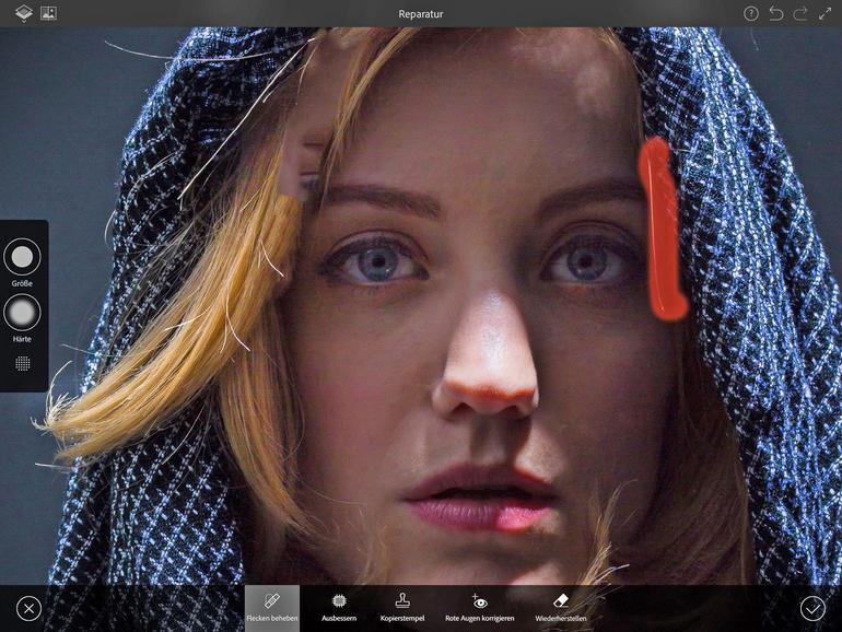 Photoshop Fix ermöglicht Retuschen und Bildkorrekturen auf dem iPhone und iPad schon unterwegs. Die gelingen einfacher als mit Photoshop, die Qualität stimmt aber, da die App auf der gleichen Technologie basiert.