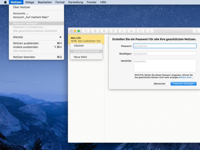 iOS 9.3 und OS X 10.11.4: So legst du passwortgeschützte Notizen an