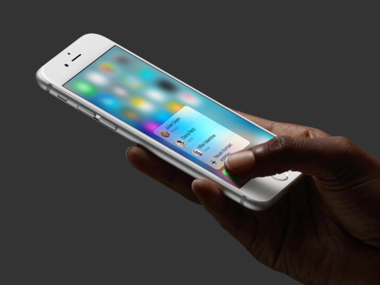 Das iPhone 6s beherrscht 3D Touch