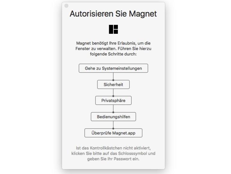 Installation des Fenstermanagers Magnet
