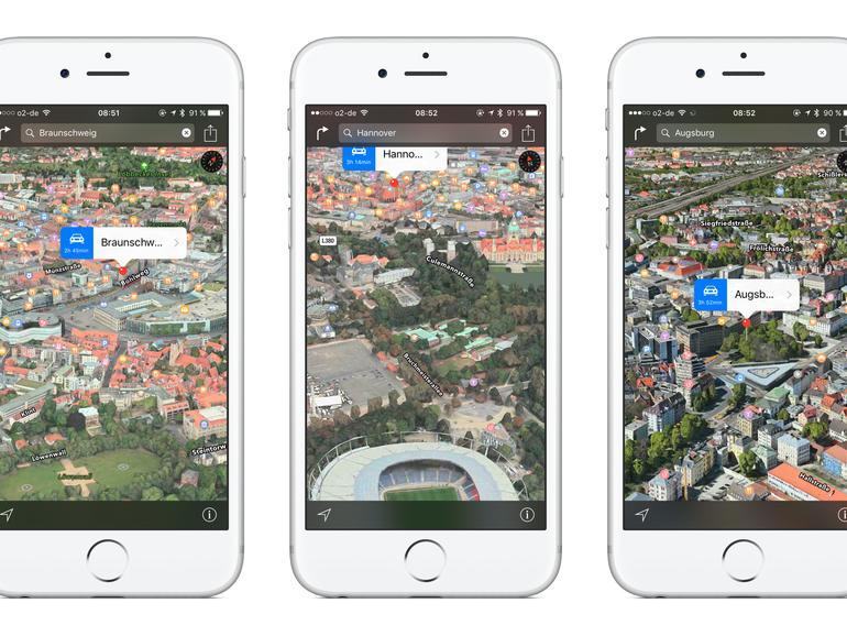Flyover in Apple Maps: Diese drei deutschen Städte sind neu hinzugekommen