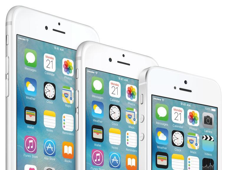 Die Qual der Wahl: iPhone 6s Plus, iPhone 6s, iPhone SE.