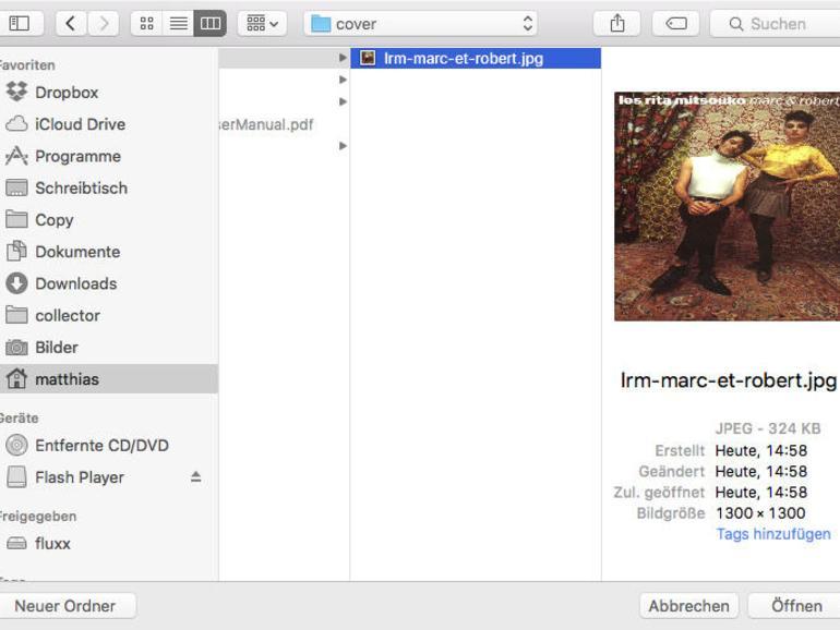 Sollte die iTunes-Cover-Suche nichts gefunden haben, sucht man selbst bei Amazon, Bing oder Google.
