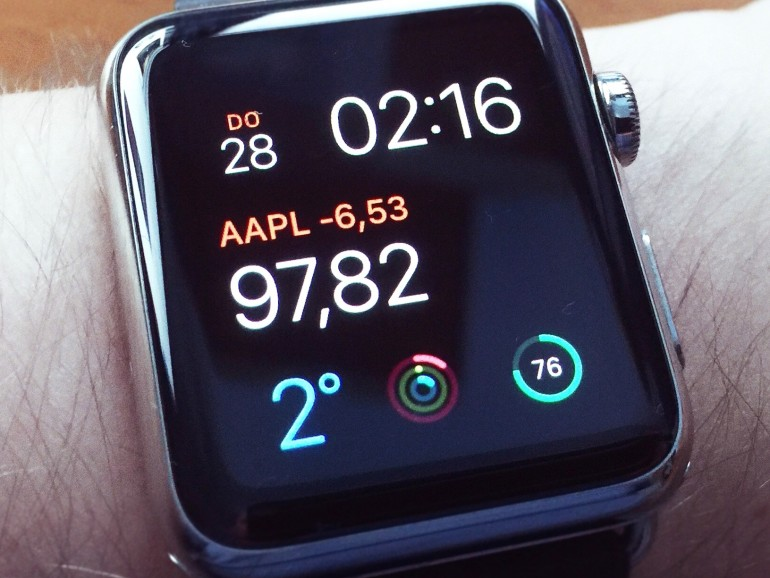 Apple Watch mit Multifunktions-Zifferblatt