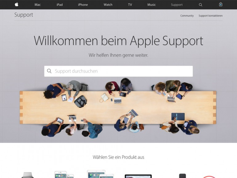 Im neuen Gewand: Apple schickt überarbeitete Support-Seite an den Start