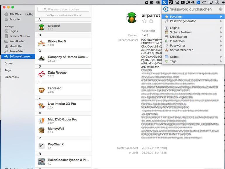 1Password ist ein genialer Safe für alle sensiblen Daten auf Mac und iOS.