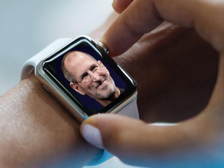 Montage: Steve Jobs auf Apple Watch