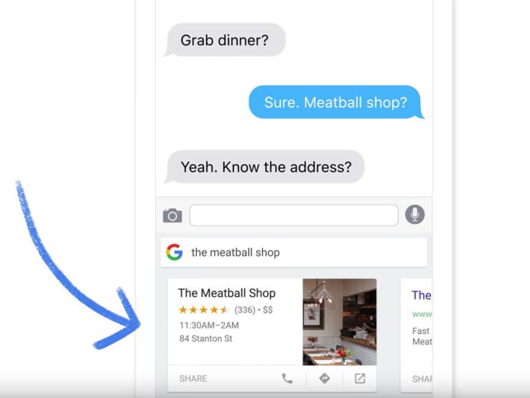Googles iOS-Tastatur kommt mit integrierter Google Suche