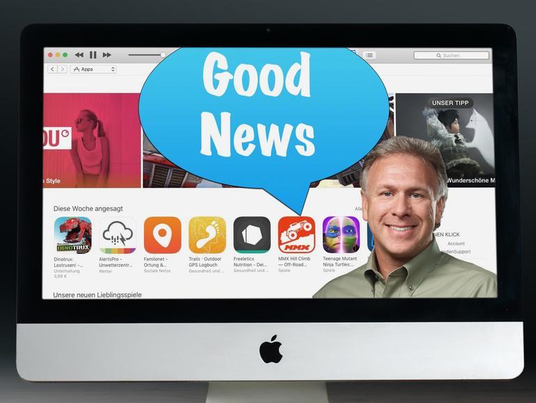 Montage: Phil Schiller hat gute Neuigkeiten für App-Store-Entwickler