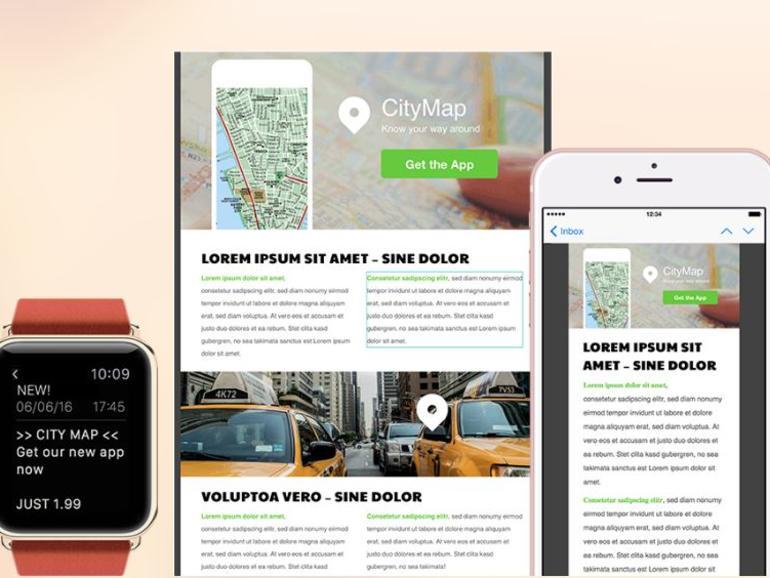 Mit Mail Designer Pro 3 lassen sich auch Newsletter für die Apple Watch erstellen