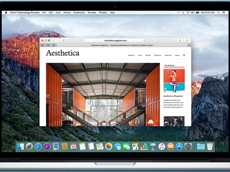 Safari Technology Preview am MacBook Pro