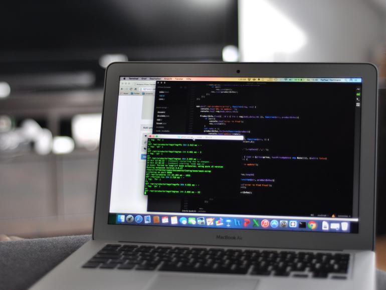 Code Editor auf MacBook Air