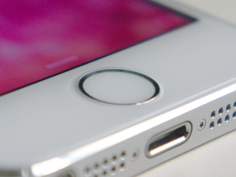 Homebutton mit Touch ID auf dem iPhone 5s