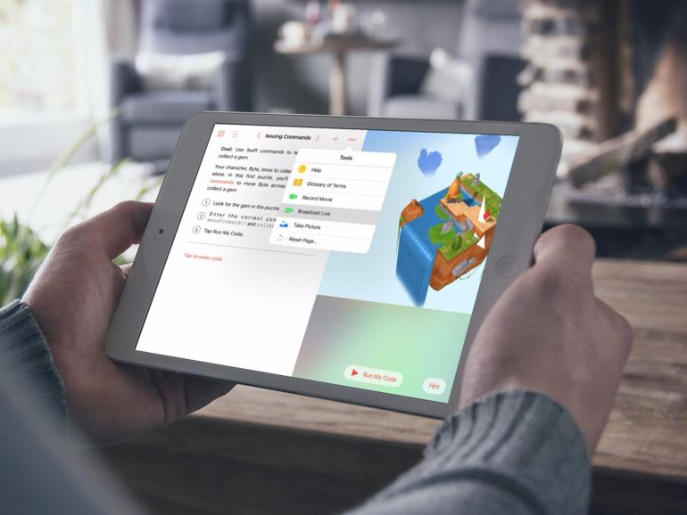 Swift Playgrounds auf iPad