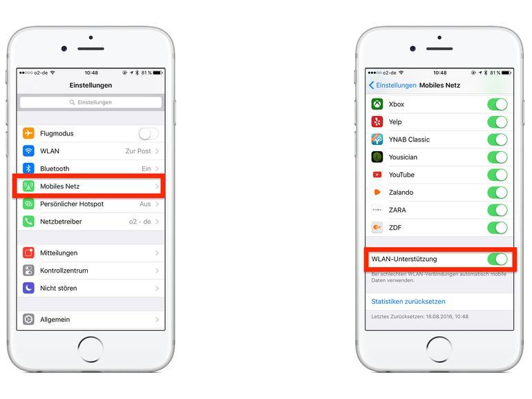 iphone 8 Plus datennutzung kontrollieren