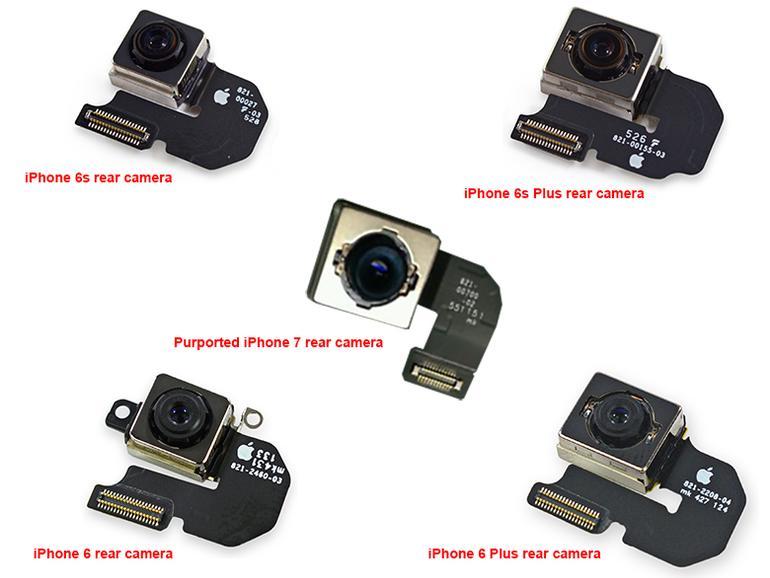 Kamera-Module verschiedener iPhone-Modelle