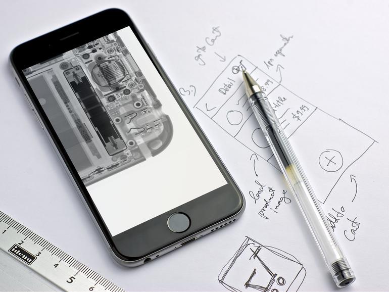 iPhone-Ception: Röntgenbild eines iPhones... auf einem iPhone