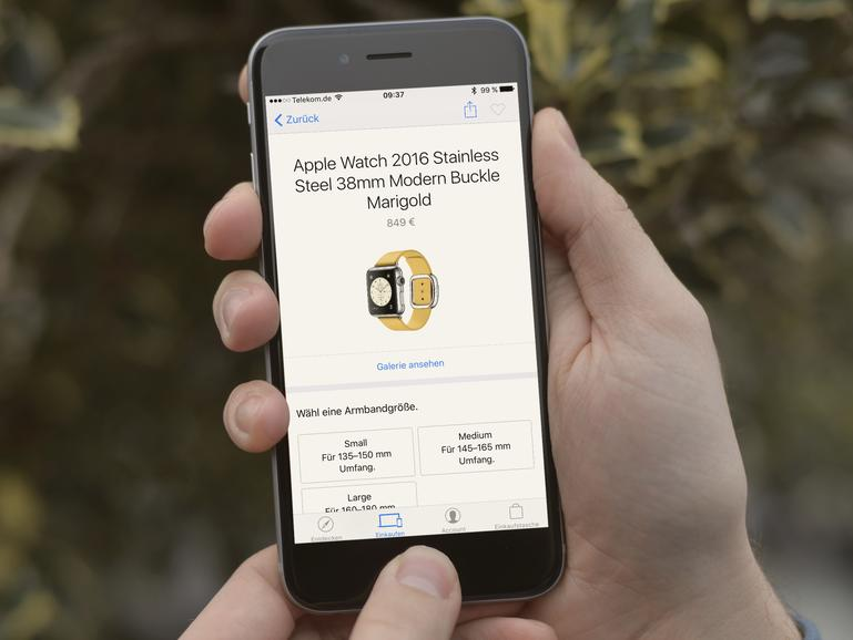 Apple Watch 2016 Stainless Steel in der Apple Store App