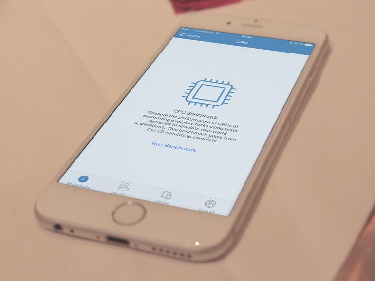 iPhone mit Geekbench 4