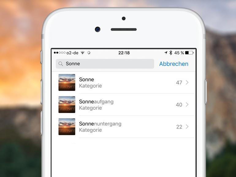 So durchsuchen Sie Ihre Fotos nach Personen, Objekten oder Landschaften in iOS 10