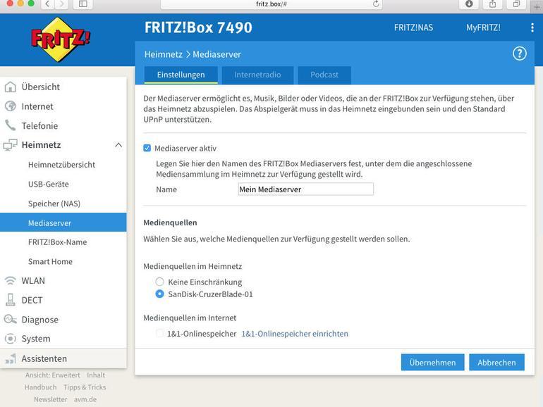 FritzBox als Mediaserver: Musik & Filme im Netzwerk bereitstellen
