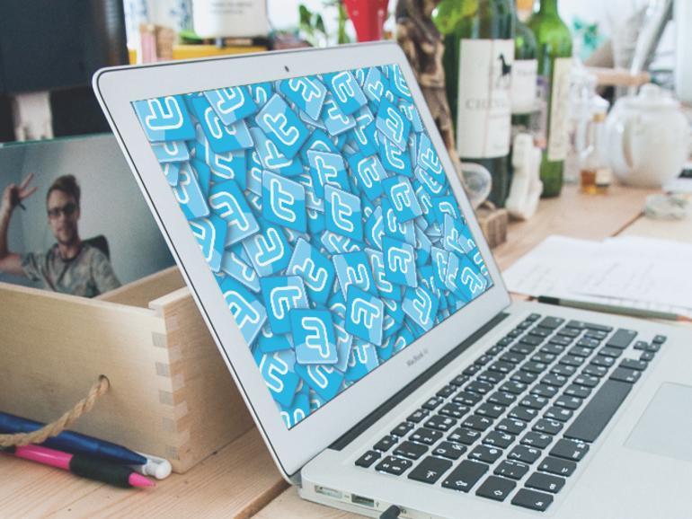Twitter-Symbole auf MacBook Air