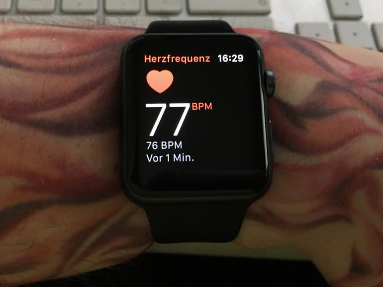 Pulsmesser an der Apple Watch