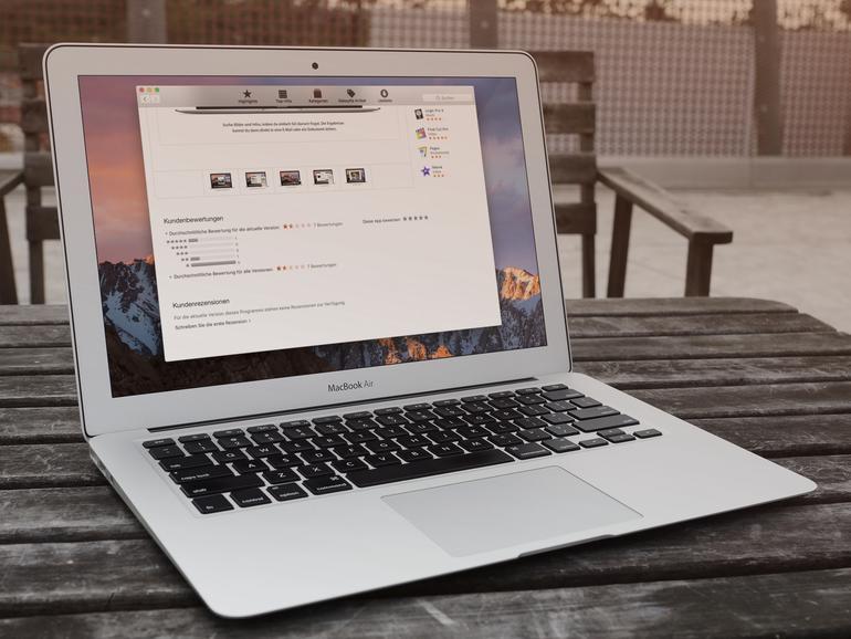"""1,5 Sterne aus 7 Bewertungen: So """"gut"""" finden Nutzer macOS Sierra."""