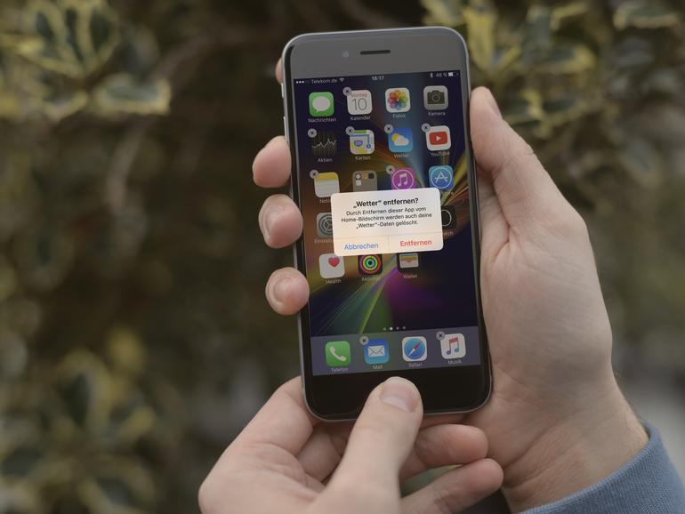"""iOS 10: Standard-Apps wie Wetter können nun """"entfernt"""" werden"""