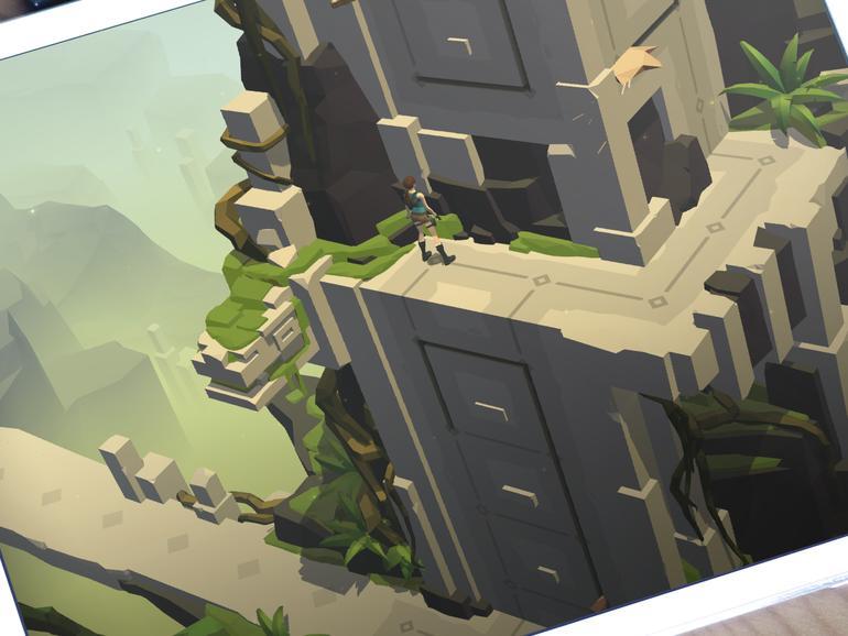 Lara Croft GO auf einem iPad
