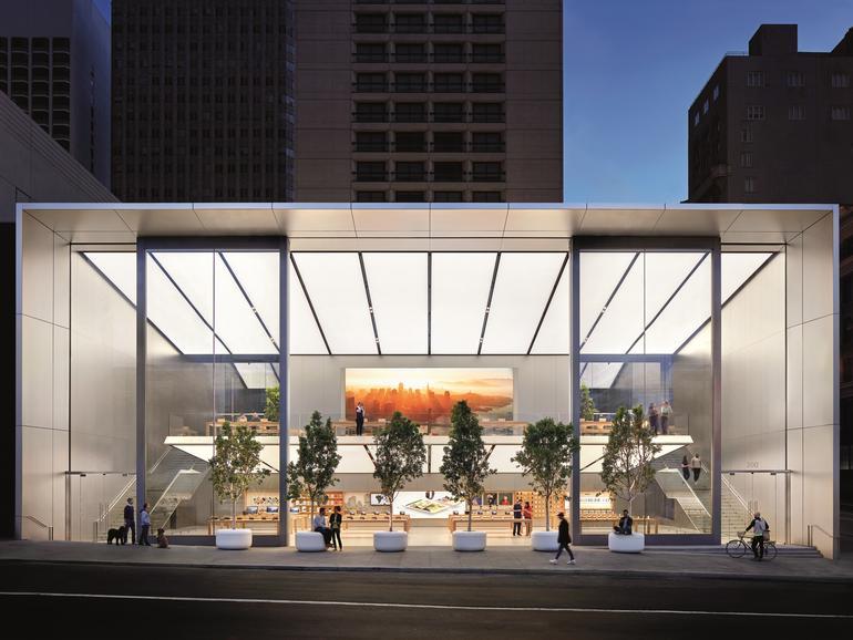 In den USA wurde ein Apple Store ausgeraubt (Im Bild: Apple Store in San Francisco)