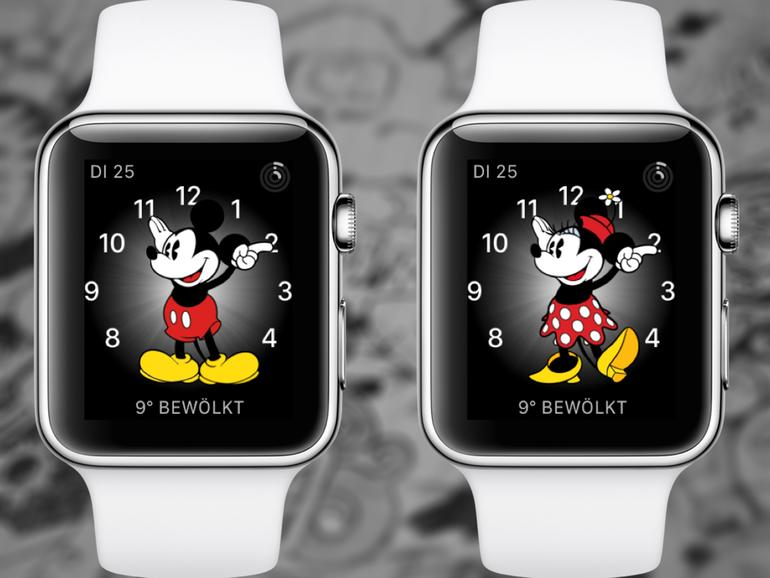 apple watch mickey mouse stimme