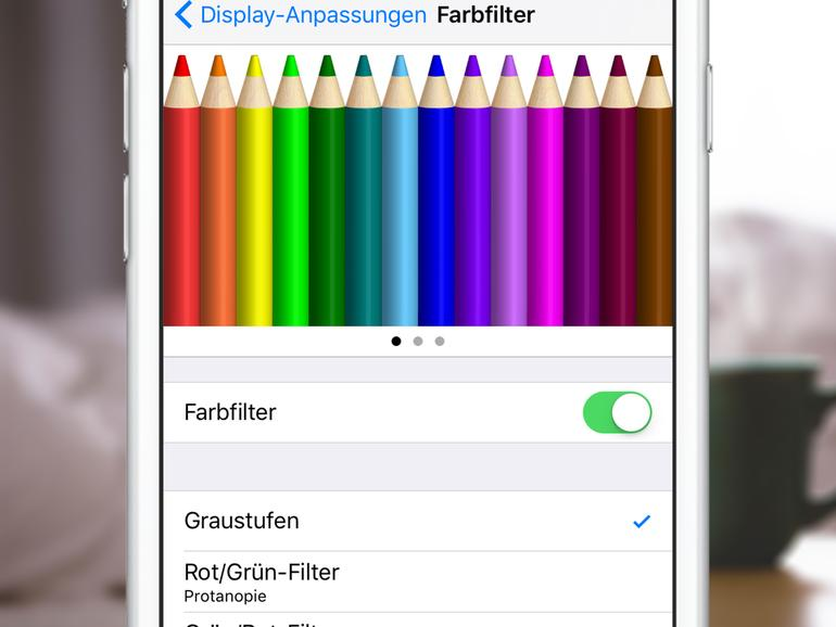 iOS 10: So nutzen Sie die neuen Farbfilter
