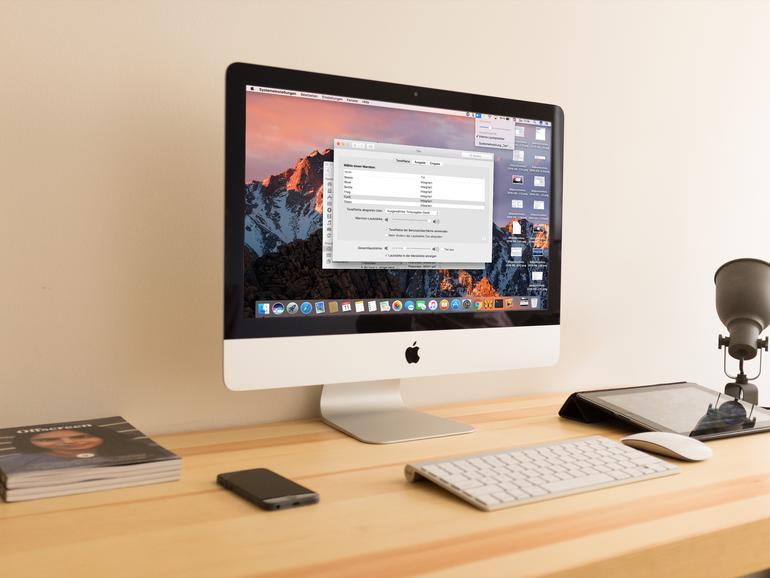 macOS Sierra auf einem iMac