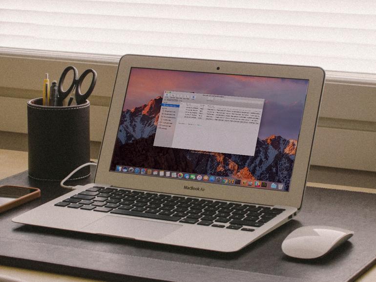 macOS Sierra auf der MacBook Air