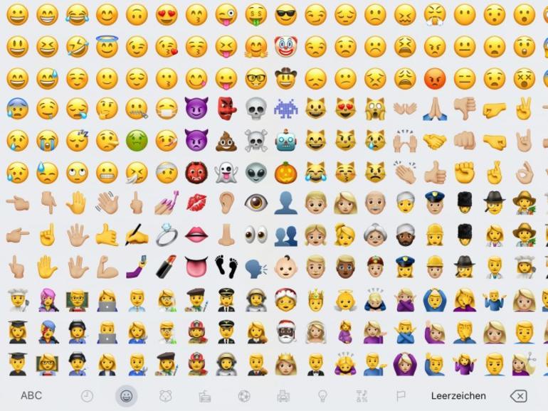 Neue Emojis in macOS 10.12.2 und iOS 10.2