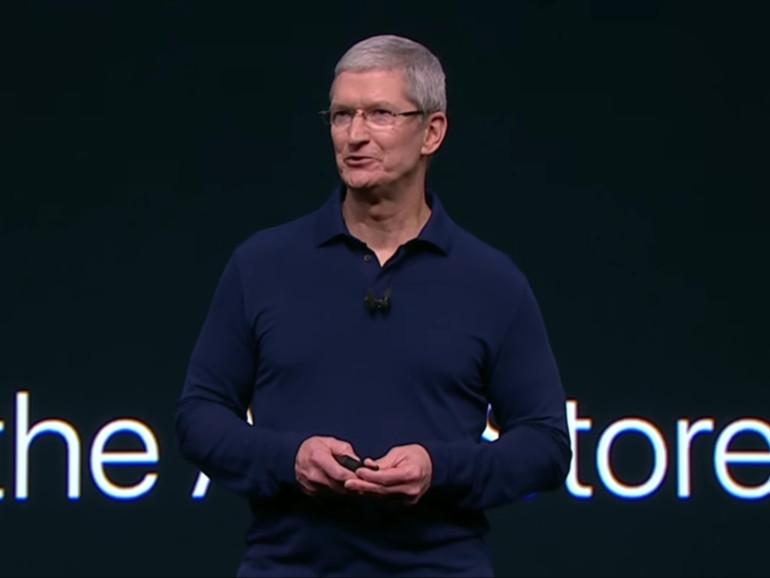 Tim Cook auf der Keynote zum iPhone 7, September 2016