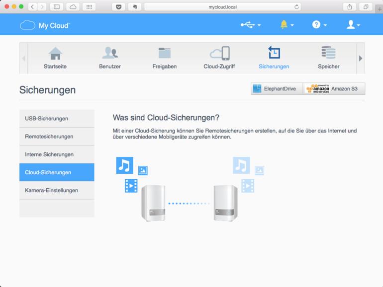 Cloud-Sicherungen speichern die Personal-Cloud im Rechenzentrum eines Dienstleisters