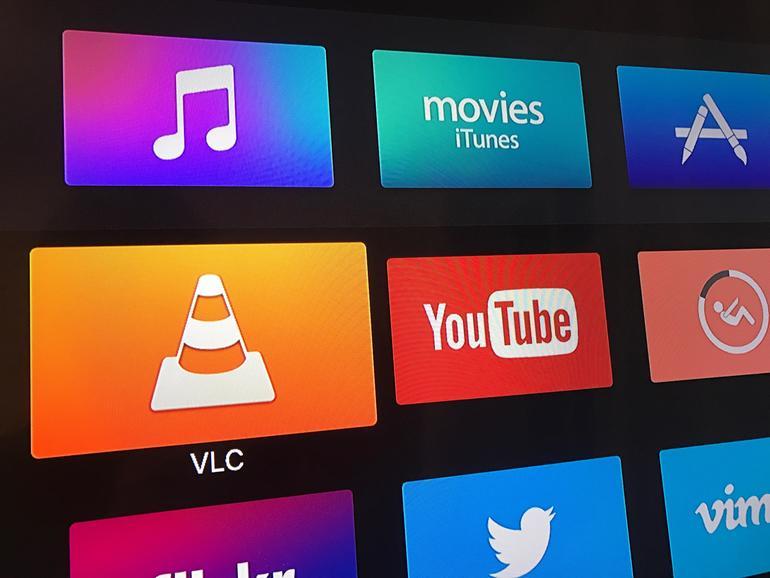 Am Apple TV dient eine App wie VLC zur Verbindung mit dem NAS