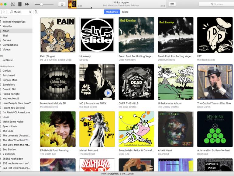 iTunes kann Musik von geteilten Mediatheken wiedergeben