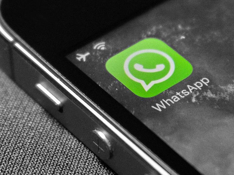 WhatsApp-Logo auf dem iPhone