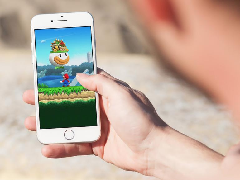 Der wohl größte Unterscheid zu bisherigen Mario-Spielen: Super Mario Run lässt sich mit nur einer Hand spielen