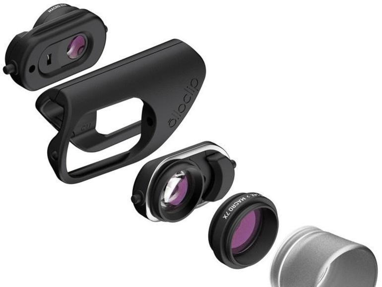"""Die Aufsatzlinsen """"Olloclip Macro Pro Lens"""" (100Euro) bieten drei Vergrößerungsstufen und erlauben neue Perspektiven in der Nahaufnahme."""