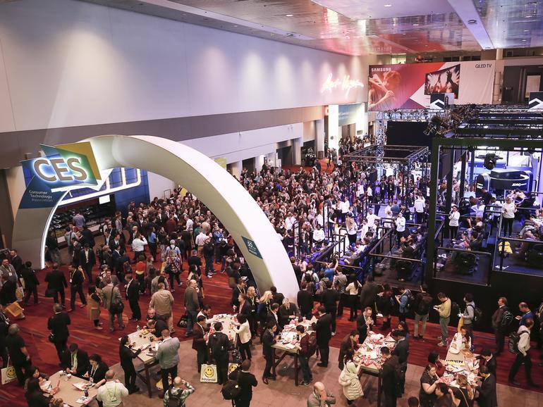 Samsung-Stand auf der CES 2017 in Las Vegas