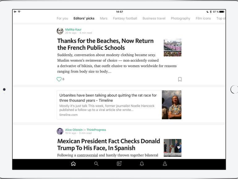 Medium ist eine Online-Publishing-Plattform, die 2012 in den USA startete und die sich auf längere Texte spezialisiert hat.