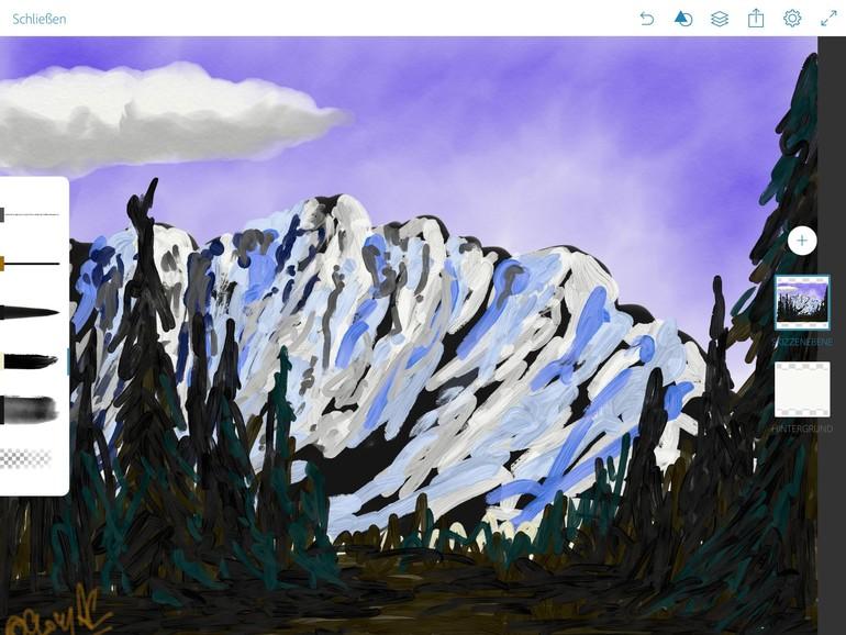 Besonders in Verbindung mit dem Apple Pencil eignet sich das iPad Pro perfekt für Skizzen und Zeichnungen, ...