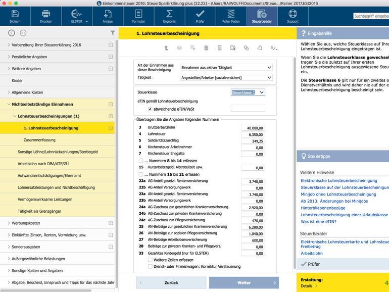 Wiso Steuer: Mac ermöglicht die Bearbeitung eines Steuerfalls wahlweise auf dem Mac, auf dem iPad oder direkt im Web.